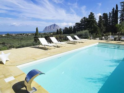 Photo for Fantastic villa in Sicily with Sea View and private pool