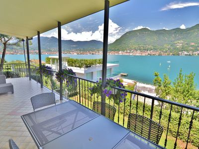 Photo for LAKE GARDA VIEW VILLA WITH GARDEN, WIDE TERRACE NEAR Salò