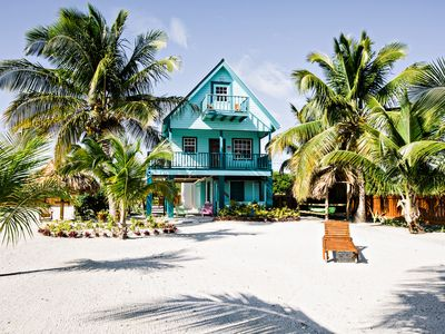 Photo for BEST VALUE, CUTEST ISLAND HOME! 3br/ 2ba Belize Beachfront Home