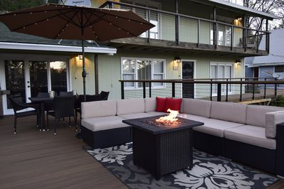 Enjoy the large outdoor space with an ice cold beverage