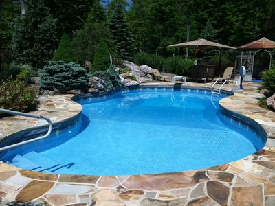 "Photo for Pocono Paradise!  Private Pool & Outdoor Jacuzzi and 75"" Smart TV!"