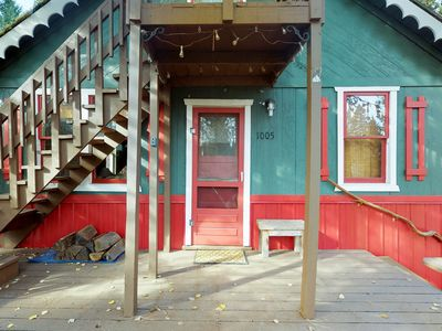 Photo for Vintage cabin w/deck,  WiFi and cable! near trails/Payette Lake - dogs OK