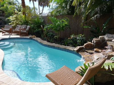 Photo for Big ground-level house steps to beach. Private Heated Pool. Super kid friendly!