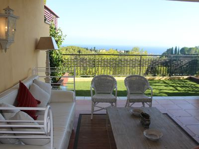 Photo for Lovely ground floor with garden in Sierra Blanca, Marbella. Views to the sea