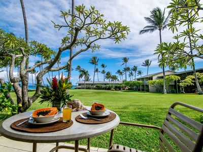 Photo for Winter Open Dates + Ocean Views + King Bed + Ground Floor Napili Shores G-156