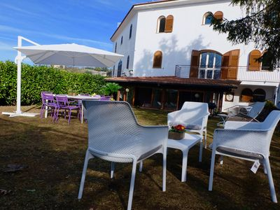Photo for detached villa on three levels with private garden and parking
