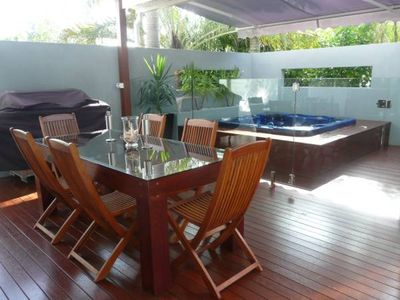 Photo for 8 Tingira Close - Modern, lowset family apartment with covered outdoor area with an outdoor spa