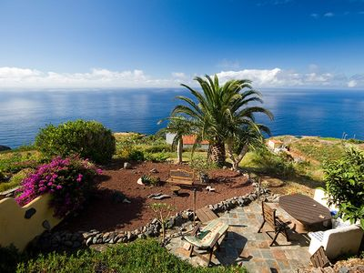Photo for Traditional Canarian house with romantic bedroom and a truly panoramic sea view