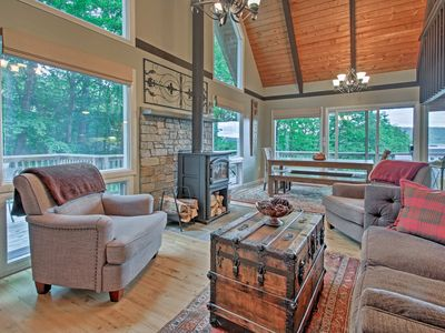 Photo for Conway Area Chalet w/ Mountain Views & Fire Pit!