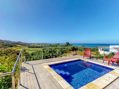 Photo for Breathtaking sea views & private plunge pool in a relaxing, secluded location!