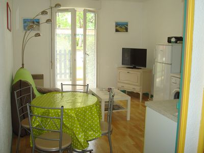 Photo for Pretty very bright apartment in Arcachon, near beaches and shops