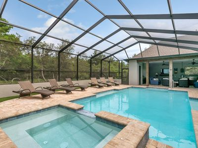 Photo for 'The Best Kept SeaCret' - A Luxurious Seacrest Home   2 Master Suites   Screened Pool Spa   Viking Outdoor Kitchen   Minutes to the White Sandy Beaches