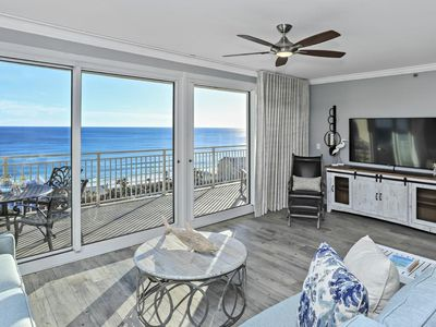 Photo for The ultimate luxury condo! Sprawling and newly remodeled, Beach View!