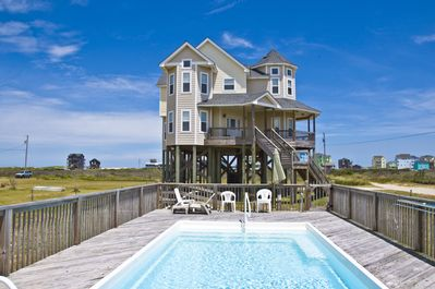 Poolside view, facing Pamlico Sound