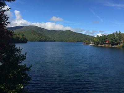 Photo for Amazing Lake And Mountain Views!  Relaxing Getaway!  Private Dock For Water Fun!