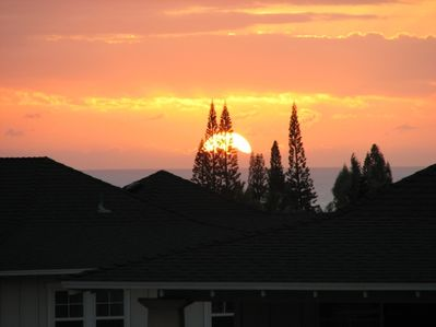 Memorable sunset view from your lanai last summer