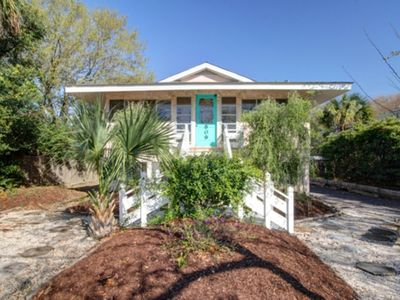 Photo for Cute, Cozy Beach Cottage - One block to the beach!