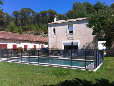 Photo for Mas standing, renovation by architect, pool pinewood between sea and Cévennes