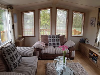 Photo for Pet friendly lake view lodge in an idyllic 150 acre country park