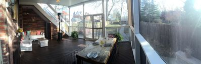 Enjoy outside in this dry screened in porch!