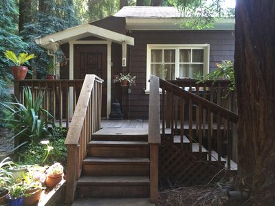 Photo for Relax in Fairfax quiet cottage in the redwoods