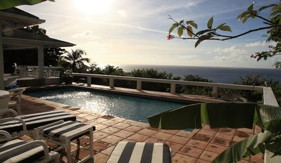 Photo for Secluded 2 Bedroom Villa With Breathtaking Views Over the Caribbean Sea