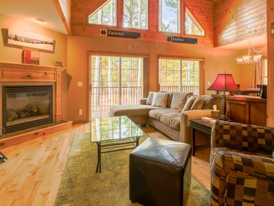 Photo for Secluded chalet w/ upscale interior & jetted tub, close to Sunday River Resort!