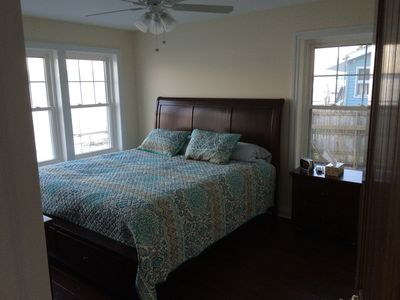 Master bedroom. King size bed.