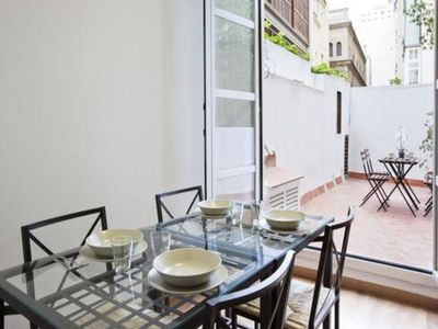 Photo for Apartment in the center of Barcelona with Internet, Air conditioning, Lift, Terrace (1001365)