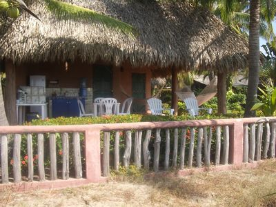 View from the beach of a Casita.