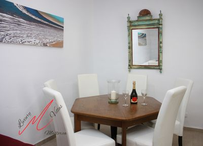 Bright dinning table. Comfortable