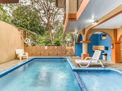Photo for Hotel room w/great location, A/C, and shared outdoor pool! Walk to the beach!