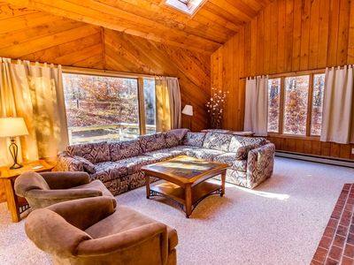 Photo for Hideout is Killington's Perfect Family Getaway and close to all restaurants and shops.  The lower level living area has a new large screen TV and a ping pong table for everyone to enjoy a little friendly competition.