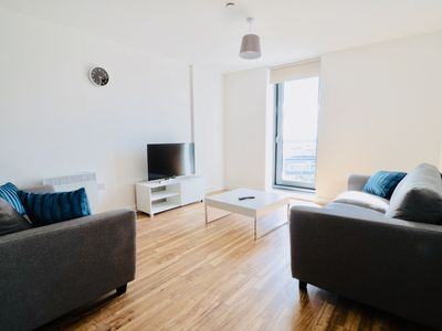 Photo for Brand New 3 Bed Media City High Rise W/ Gym