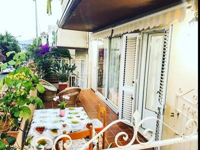 Photo for Holiday home, 2 double bedrooms, 2 bathrooms, kitchen, wi-fi, covered veranda