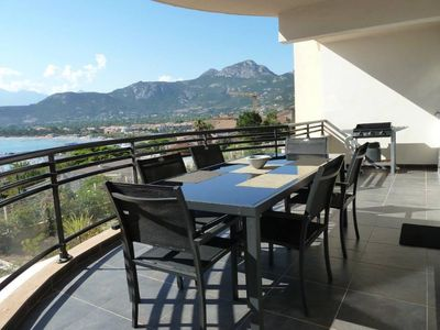 Photo for New apartment comfortable 2 bedroom / 2 bathroom - beautiful sea and mountain view - Direct access pedestrianized center, harbor and beach