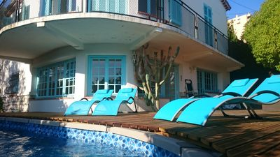 Photo for Design villa 6 rooms with sea view, close to beaches, private pool and garden