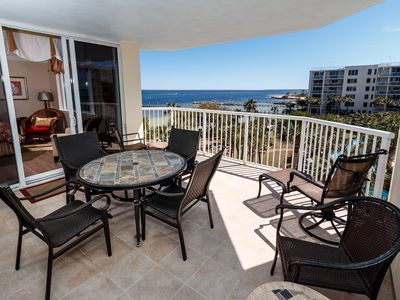 Photo for WATERFRONT Heron 505! Amazing Views, 3BR/2.5BA, 700' Lazy River, Pools, Beach!
