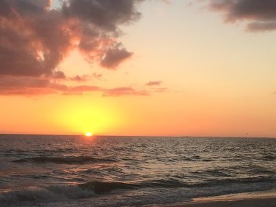 Sunset on Ft. Myers Beach, just one block from Pepita Paradise.