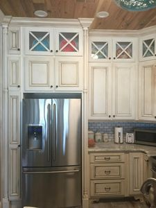 Kitchen view new Stainless Steel Electrolux refrigerator