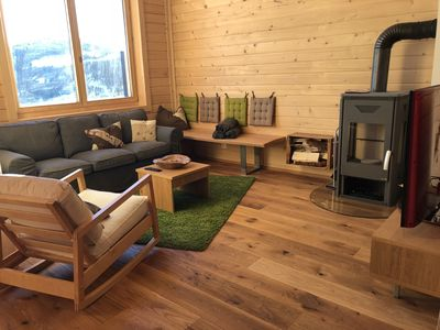 Photo for new alpine cabin with 2 units each for up to 12, next to the skiing slopes
