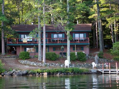 Photo for Bridged island lake house (4-season Home On Lake Winnipesaukee)