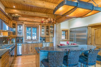 A large chefs kitchen complete with an amenity you might need