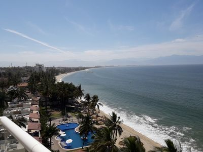 Photo for MODERN LUXURIOUS BEACH FRONT CONDO,  overlooking       Banderas Bay at Bucerias