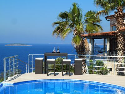 Photo for Luxurious villa with pool in dream location by the sea - Welcome to Paradise