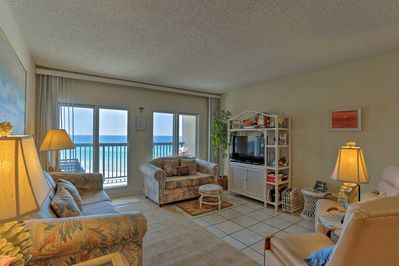 You'll fall in love with the walk-out balcony accessed from the living room.