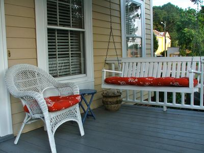 A breeze off the river, a porch swing, and time to enjoy it...