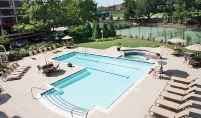 Pool, Jacuzzi, and Tennis Court