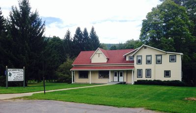 Looking at the house from State Route 6.