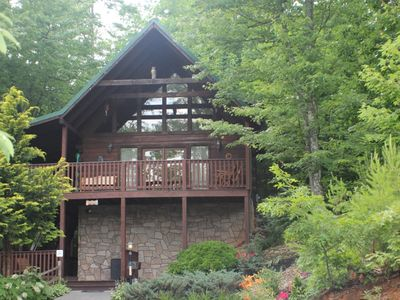Photo for TRUE LOG CABIN FANTASTIC VIEWS  (ONLINE BOOKING) 2.5 MILES TO GATLINBURG & PARK